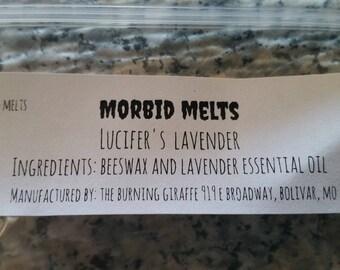 Morbid Melts Lucifer's Lavender scented wax melt all natural