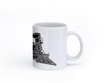 KillerBeeMoto:  U.S. Made Train Locomotive CPR Steam Engine No 374 Coffee Mug (White)