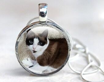 Custom Cat Necklace - Custom Cat Photo Necklace - Custom Cat Jewelry (CCN1)