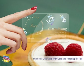Clear Transparent Business Cards, 1-3 Foils  personalized business  cards. 1  PC-NN1-10