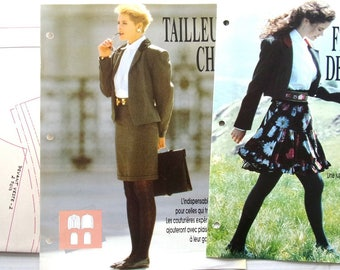 pattern sewing PASSION REF. 4 - SKIRT has ruffles and CHIC tailored for women