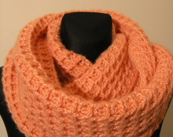 "Infinity scarf for ""wafers lovers"",thick woollen crocheted scarf,warm scarf,beautiful crochet gift,Christmas gift"