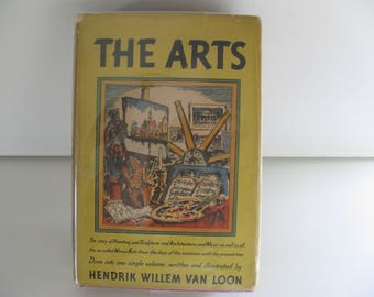 Vtg THE ARTS BOOK/Art Book by Hendrik Willem Van Loon/Art History and Illustratioin Book/Map of the Arts Book/Complete Art History Book/Book