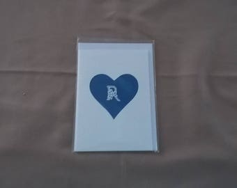 Belgian Lace cards with the initial R