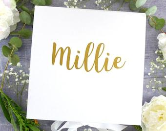 Will you be my bridesmaid? Gift Box - Maid of Honor Gift Box - White Keepsake Box - Large Bridesmaid Proposal Box - Flower Girl Gift Box