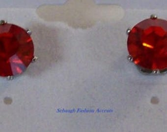 SWAROVSKI Red Crystal Earrings,Jewelry,Stainless Steel Posts,Crystal,Gifts for Her,Gift Ideas,Earrings,Red,Stud Earrings,Gifts