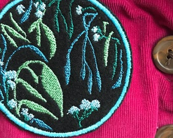 midnight garden art patch   abeadles   iron on plant patch   patch game   patch collector