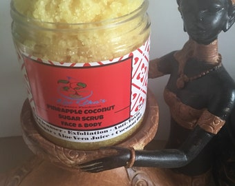 Organic pineapple coconut face and body scrub