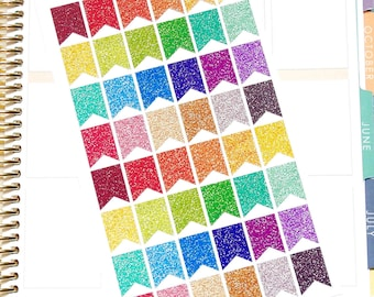 Glitter Page Flags - Glitter Stickers - Page Flags - Planner Stickers