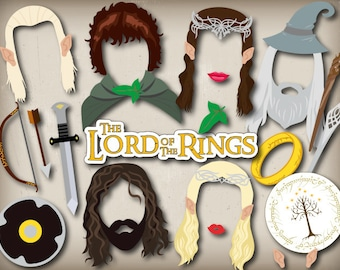 Instant Download Lord of The Rings Photo Booth Props, The Hobbit Party Photo Booth Props, The Lord of The Rings Photobooth Props DIY 0052