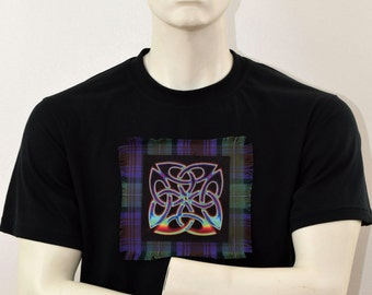 Celtic Knot T-shirt - Isle Of Skye Tartan - schottischen Celtic Shirt