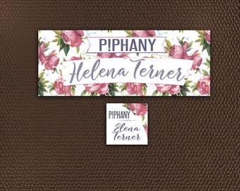 Piphany Facebook Cover Photo - Online Shop Sign - Social Media Banner - Piphany FB Cover Image - Floral Design