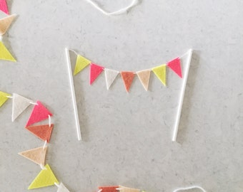 Mini Felt Triangle Cake Topper