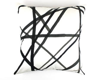 Kelly Wearstler Channels Pillows (Shown in Ebony/Ivory-Comes in 4 Colors)