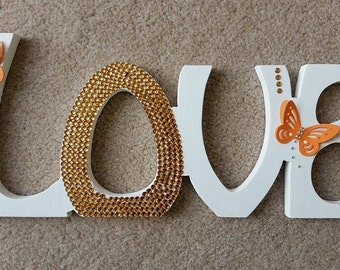 LOVE Free Standing Love Sign Wedding Center Piece Table Decoration Gift Home - Any Colour