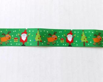 Santa Ribbon - Christmas Ribbon - 1 Yard
