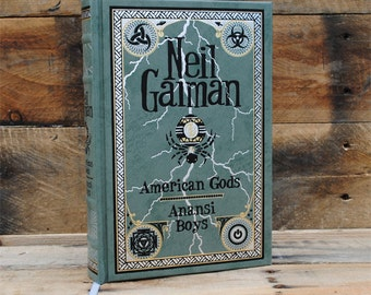 Hollow Book Safe - American Gods - Leather Bound