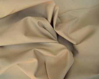 Cotton Twill Spandex Fabric 4 Way Stretch  by the Yard KHAKI