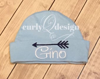 Personalized knit cap for baby
