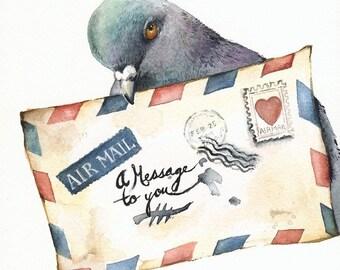 Art Messenger-pigeon