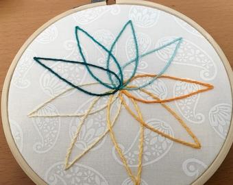 Color Wheel Nine Pointed Star