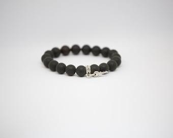 Key Black Amber Bracelet