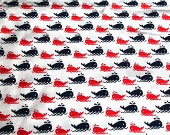 Coupon fabric girl 50 x 70 cm small whales