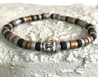 Mens Bracelet, Buddha Bracelet, Beaded Bracelet, Beaded Bracelet for Men