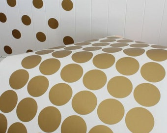 Two inches gold dots, gold dots, polka dots decal, vinyl decals for nursery