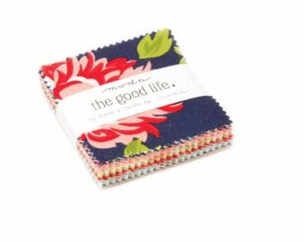 SPRING SALE - Mini Charm Pack - The Good Life - Bonnie and Camille for Moda Fabrics