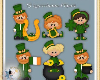 St. Patrick's Day Clipart, Lil Leprechaun