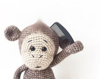 PATTERN - Sunshine The Monkey - amigurumi pattern, crochet pattern, PDF