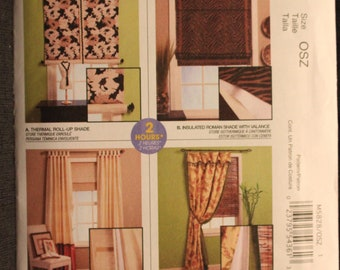 McCalls 5828   Home Dec in a Sec  Insulated Shades and Curtain Panels