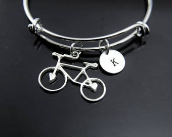 Bicycling Bangle Bicycle Bracelet Bicycle Charm Bicycle Jewelry Sports Charm Bike Rider Gift Bicycling Gift Personalized Bracelet