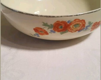 Vintage Jewel Tea Poppy Serving Bowl