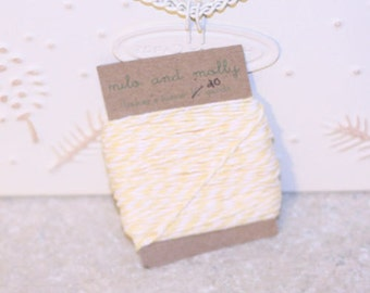 Baby Yellow Bakers Twine for Crafting or Decorating 20 yds Wedding Scrapbook