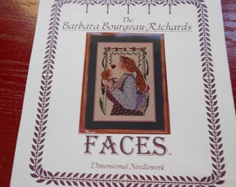 """To See Her"""" cross stitch pattern"""