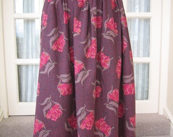 Laura Ashley Skirt Extra Large 1980s Purple Floral