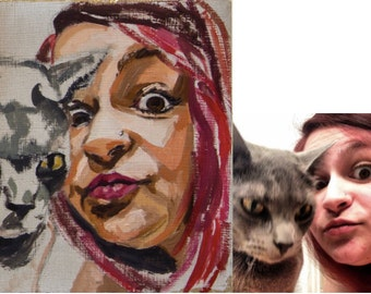 Custom #Selfie Portrait (Images are just examples of my work and are not for sale in this listing)