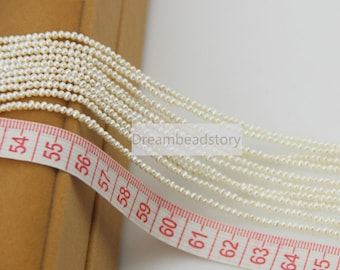 2mm Small Pearl Seed Beads, Tiny White High Quality Loose Cultured Pearl Beads for Jewelry Making (XMZ10)