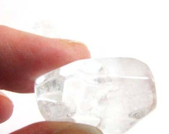 Clear Chunky Crystal Quartz Bead Necklace Bracelet Jewelry Supply #205