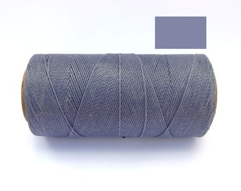 Waxed Thread - Waxed Polyester Cord - Macrame Cord - SLATE BLUE- Spool of 188 yards