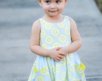 Girls Lemon Dress, Toddler Lemon Dress, Summer Dress, Girls Dress, Girls Spring Dress, Toddler Spring Dress, Toddler Dress, Toddler Sundress