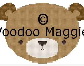Woodland Bear Cross stitch pattern