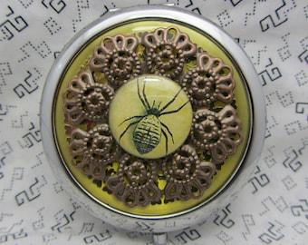 Miroir compact, que l'araignée est livré avec housse de protection