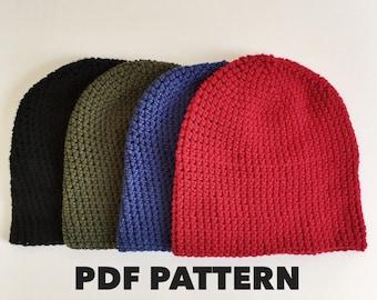 Slouchy Beanie Crochet Pattern- Easy Basic Slouch Beanie Pattern- Crochet Slouch Beanie Pattern- Hipster Hat Pattern- Instant PDF Download