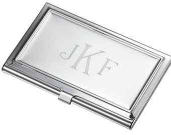 Engraved card holder etsy personalized business card case stainless steel business card case engraved business card holder colourmoves Images