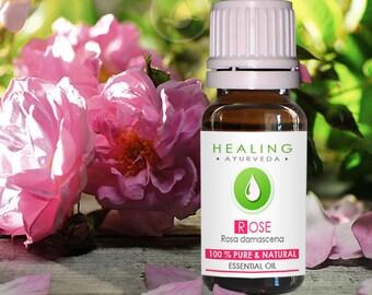 Rose essential oil- 5ml-100% Pure Rose Otto- Rosa damascena-Therapeutic- Natural Skin care-Organic Rose oil- Bath oil- Damask rose-Undiluted