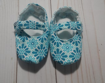 Turquoise Mary Jane Baby Shoes