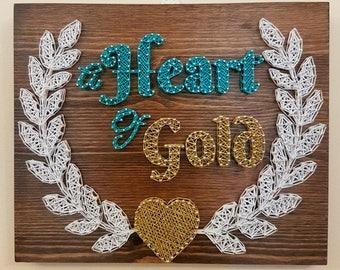 A Heart of Gold String Art